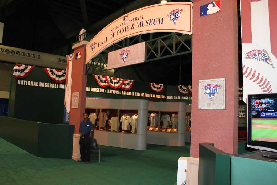 A collection from the National Baseball Hall of Fame & Museum is on display at FanFest.