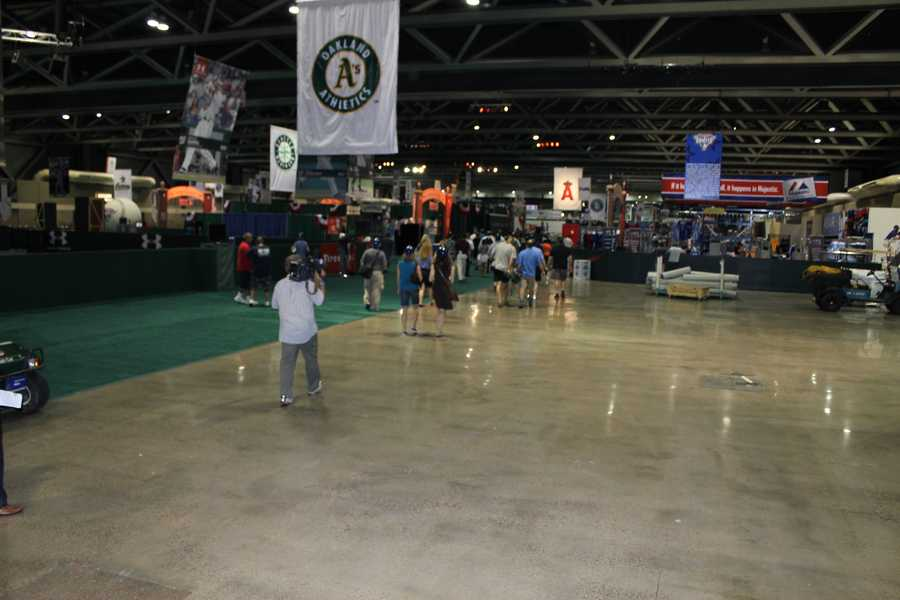 Looking down an aisle of FanFest.