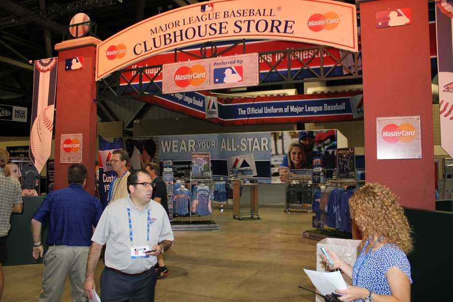 Fans can purchase lots of clothing at the MLB Clubhouse Store.