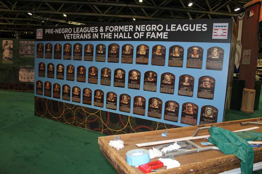 Negro Leagues players in the Hall of Fame.