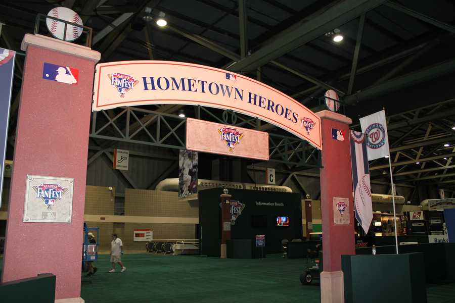 The Hometown Heroes exhibit, a tribute to baseball in KC.