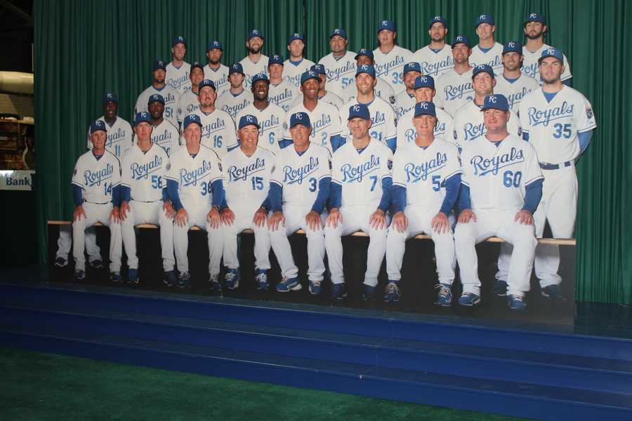 Royals players on display in the Hometown Heroes exhibit.