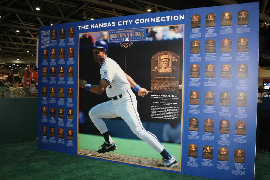 Kansas City's connection to the Hall of Fame in the Hometown Heroes exhibit.