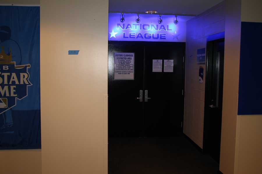 The National League Locker Room.