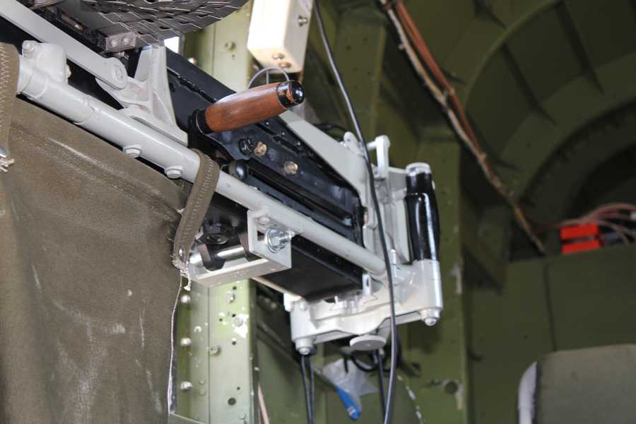 A closer look at one of the guns.