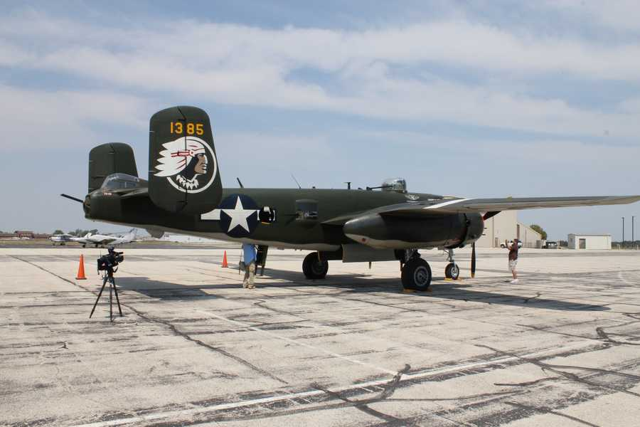 """A wide view of """"Show Me!"""" on display at New Century Air Center in Olathe."""