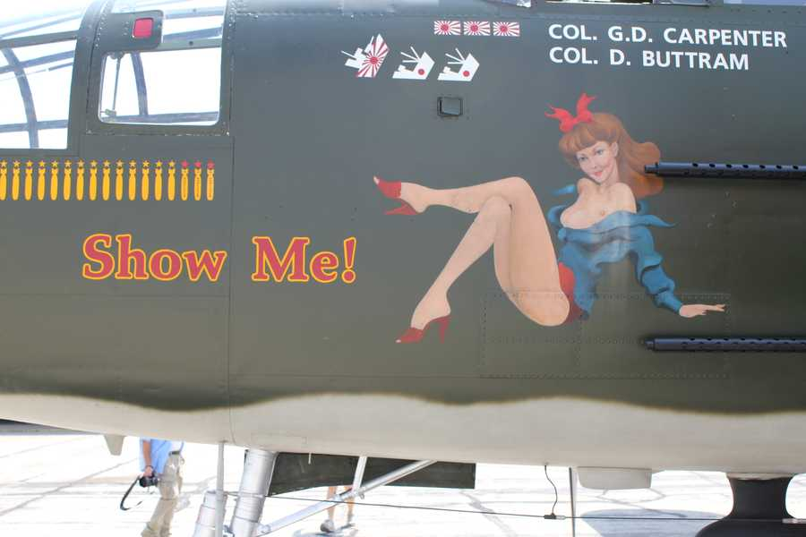 """The bomber is named """"Show Me!"""" after the state of Missouri."""