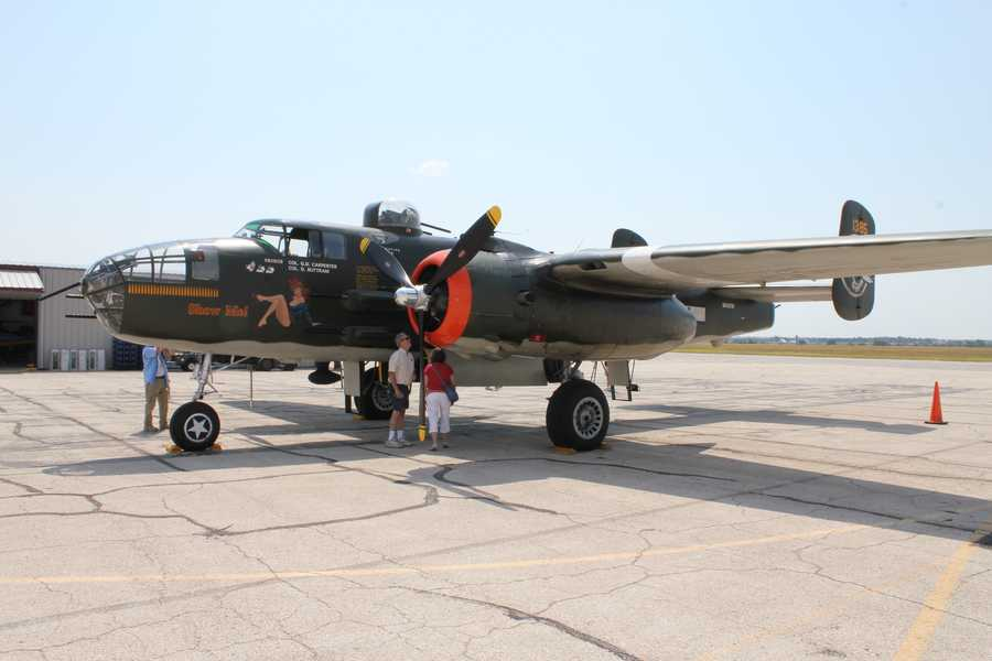 This is a B-25J bomber that was built in Kansas City, Kan., during the 1940s.