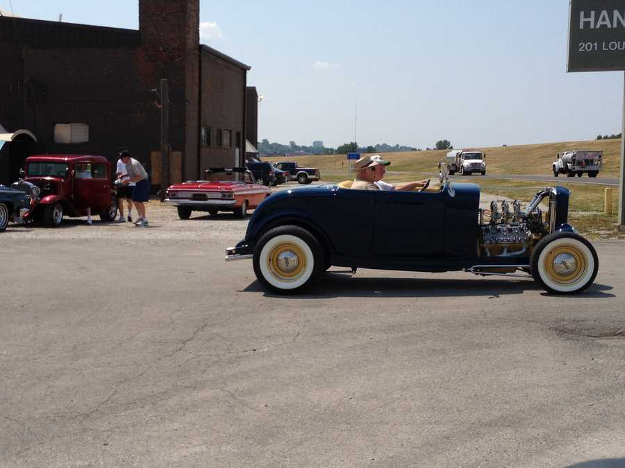 Classic cars outside the Airline History Museum at the Downtown Airport on Thursday. The get together was to promote the Airline History Museum Hangar Dance & Classic Car Show fund raiser that will be held on Saturday from 5:30 p.m. - 11 p.m. at the airport.