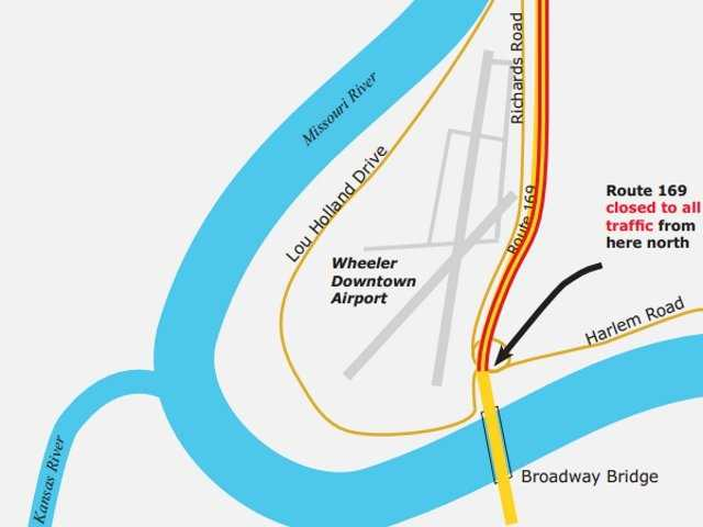 169 Highway will be closed from the Wheeler Downtown Airport north to 9 Highway from 12:01 a.m. Saturday until December.  The $10 million construction project was awarded to Pyramid Construction Co. in May.  It's important to note that the Downtown Airport will be open during construction, and will still be accessible from the Broadway Bridge.