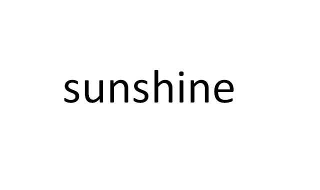 8) sunshine