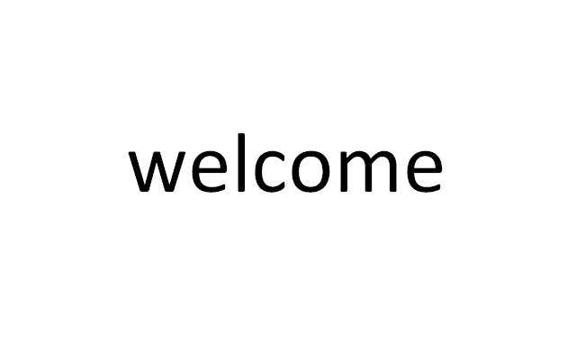 3) welcome