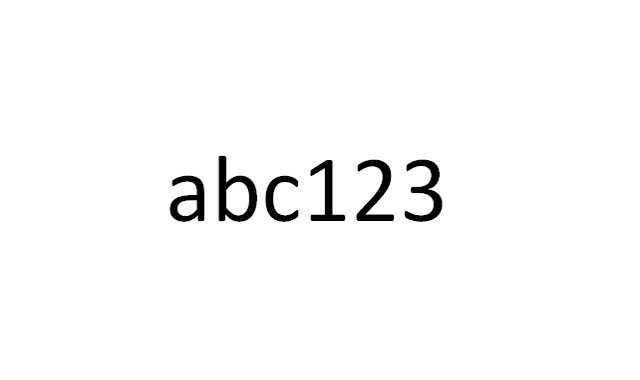 5) abc123