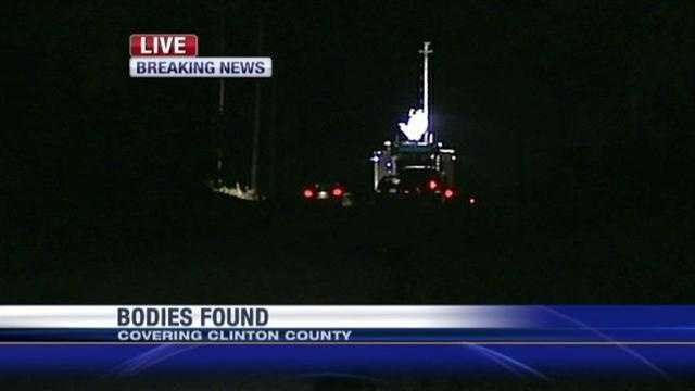 Two female bodies are found Sunday evening in a field in Clinton County. Authorities do not say if it is the missing women. More details are expected to be released during the day on Monday.
