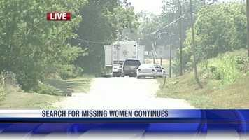 Police continue their search for the missing women near Trimble, Mo.