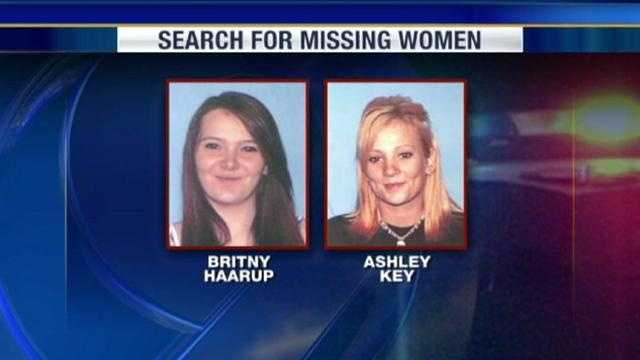 Britny Haarup and Ashley Key disappear on Friday afternoon from a home in Edgerton, Mo. The women are sisters.