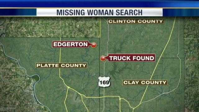 This map shows where a white truck connected to their disappearance is found. The white truck is found on Saturday.