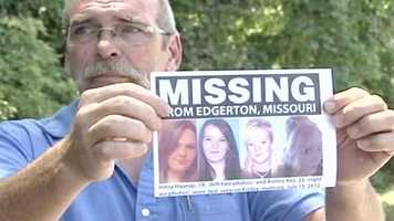 The father of the missing sisters makes a plea to the media on Saturday for their safe return.