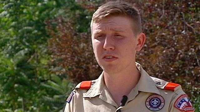A Boy Scout camp counselor has been thrown out of his job and stripped of his scouting awards after telling a leader that he is gay. KMBC 9's Stephanie Ramos reports.