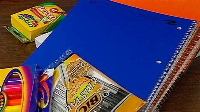 A group that helps provide school supplies to needy children in Wyandotte County said it is struggling to get enough donations this year. KMBC 9's Cliff Judy reports.