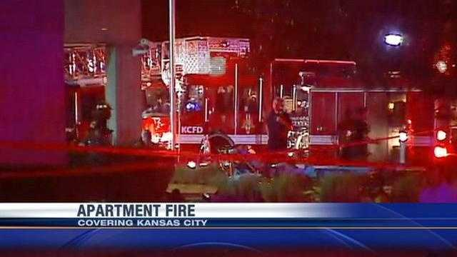 Firefighters evacuated a Kansas City apartment tower after reports of a fire in a 10th-floor unit. KMBC 9's Haley Harrison reports.