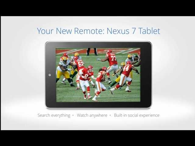 The Google Fiber Television remote is a Nexus 7 tablet.  This will come with your service.  Google said you can also use Google TV with an app installed on other tablets.