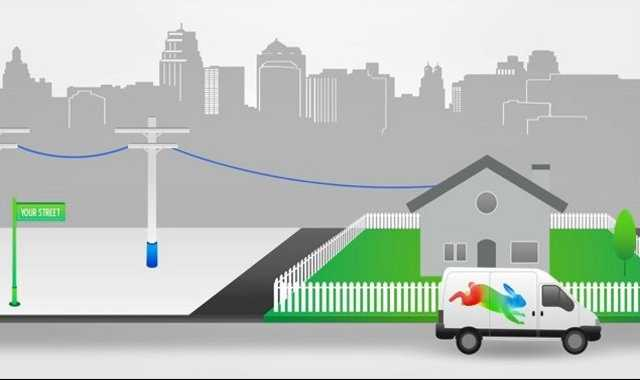 If you chose to connect to Google Fiber, it will be connected directly to your house for a fee.