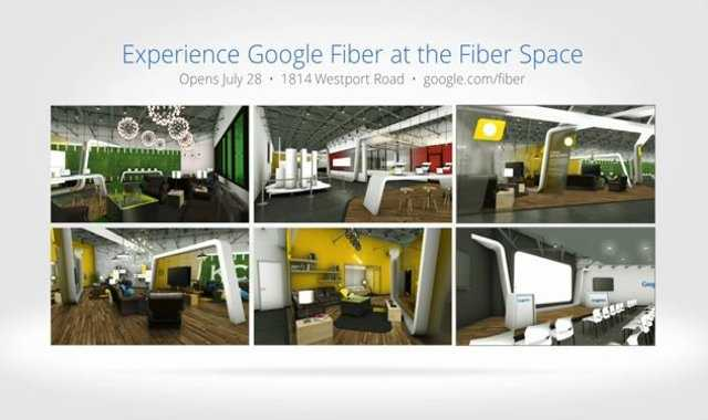 You can get a preview of Google Fiber and Google Fiber Television at 1814 Westport Road.  It opens July 28.