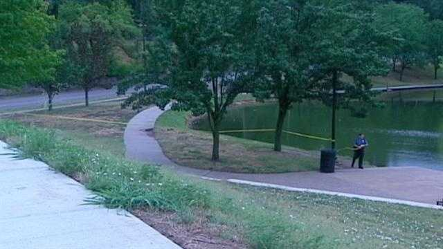 Two men were robbed at gunpoint and one had a bullet graze his head while fishing in a Kansas City park early Thursday. KMBC 9's Stephanie Ramos reports.F