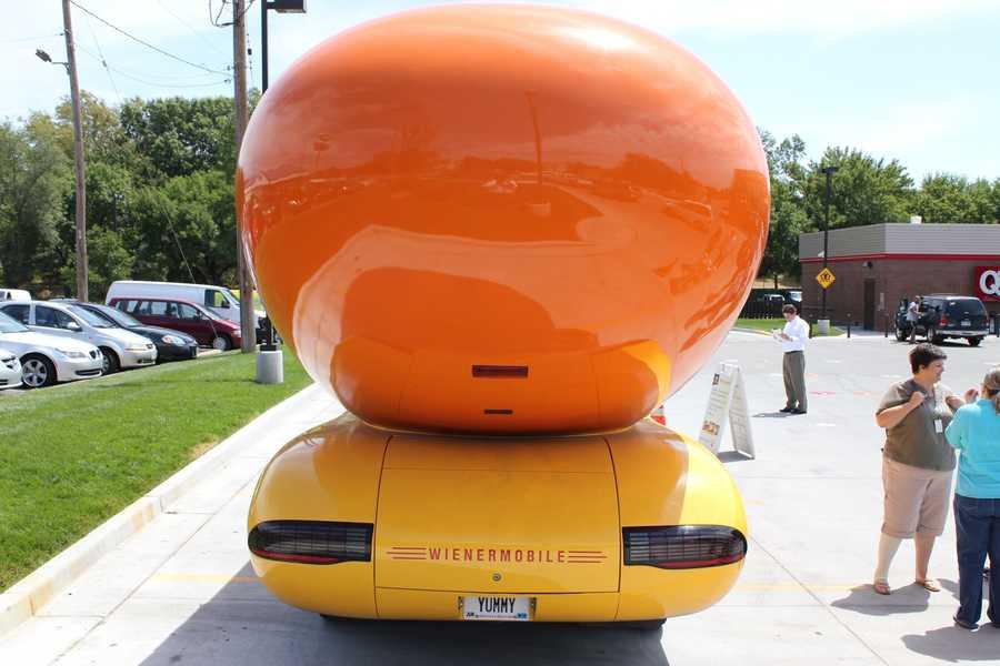 This Wienermobile has Pontiac Firebird tail lights.