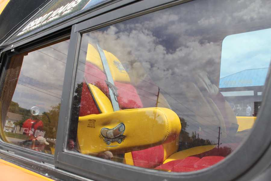 Custom Wienermobile seats.