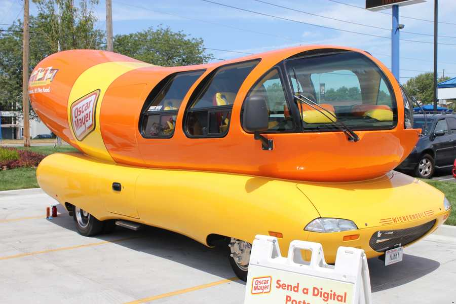 The Oscar Mayer Wienermobile was spotted at the Quik Trip on State Line Road on Tuesday afternoon.