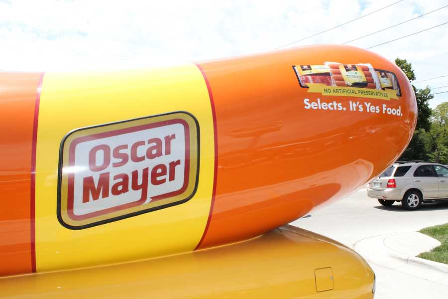 The Wienermobile is 27 feet long and 11 feet high.