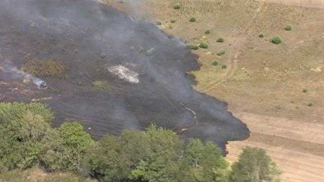 Fire crews have warned that the dry conditions could spark more of these.