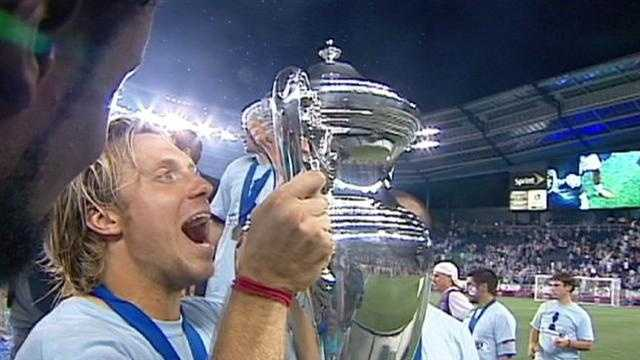 Sporting Kansas City needed extra time and a shootout, but they won the U.S. Open Cup Wednesday night at Livestrong Sporting Park. KMBC 9's Johnny Kane reports.
