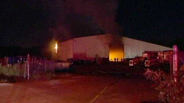 A large fire burned for several hours at KC Material Recovery and Transfer at 4020 Winchester Avenue on Friday morning. The smoke could be seen and smelled for miles. No one was injured. The cause is under investigation.