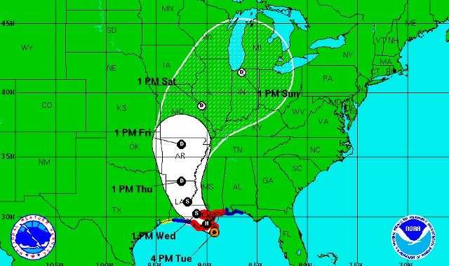 KMBC Chief Meteorologist Bryan Busby said the farther west that Hurricane Issac travels the more rain we'll see in the metro.