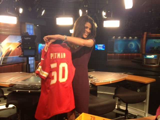 Custom jerseys for the FirstNews anchors.