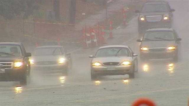 The first prolonged rain in the area for a long time could pose special dangers for drivers who haven't had to deal with these conditions for months. KMBC 9's Martin Augustine reports.