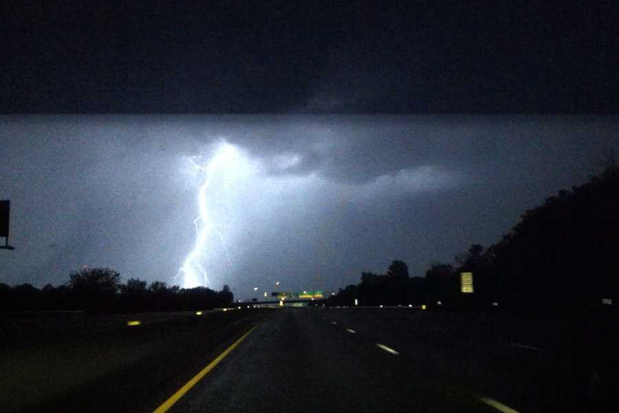Rumbly weather rolled through the metro early Tuesday morning. There was more thunder and lightning than rain.