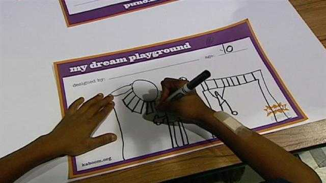 Children are helping to share ideas for a planned playground that will help fill a void in a Kansas City neighborhood.