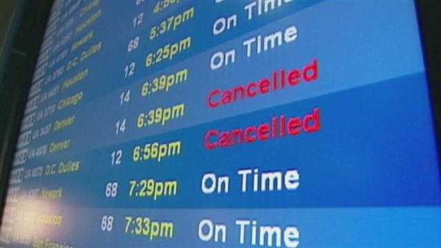 Hurricane Sandy is having an significant impact on flights due in and out of Kansas City International Airport.