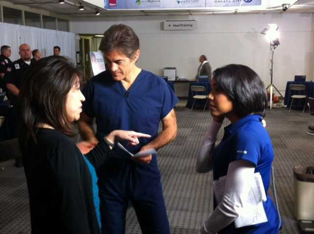 Dr. Mehmet Oz is in Kansas City Tuesday to give pre-registered residents a 15-minute physical.