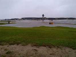 Flooding at LaGuardia Airport in New York
