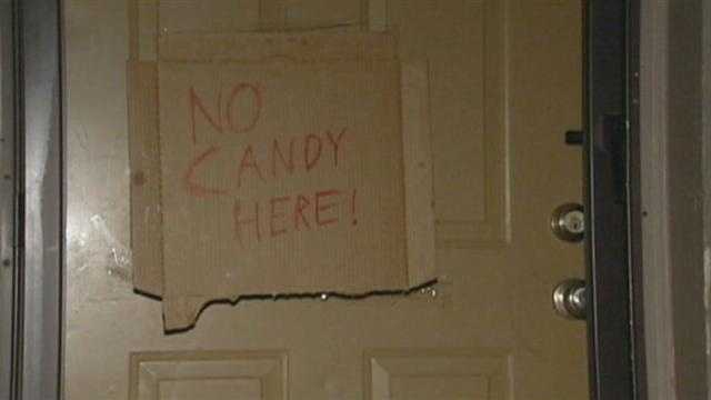 Jackson County deputies dropped by the homes of registered sex offenders Wednesday to make sure they weren't giving out candy for Halloween.