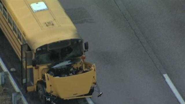 School bus fire in Northland