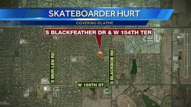 A 16-year-old boy was seriously injured when he struck the side of a vehicle in Olathe.