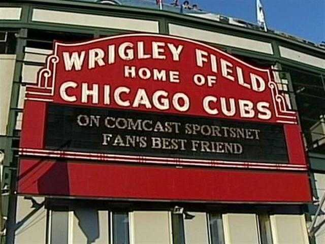 9) Wrigley Field - Chicago - Home of the Chicago Cubs