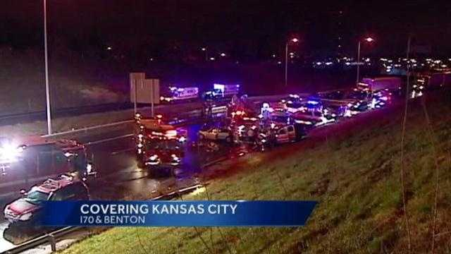 An overnight accident on I-70 at the Benton curve killed one, and injured 5 early Saturday morning.
