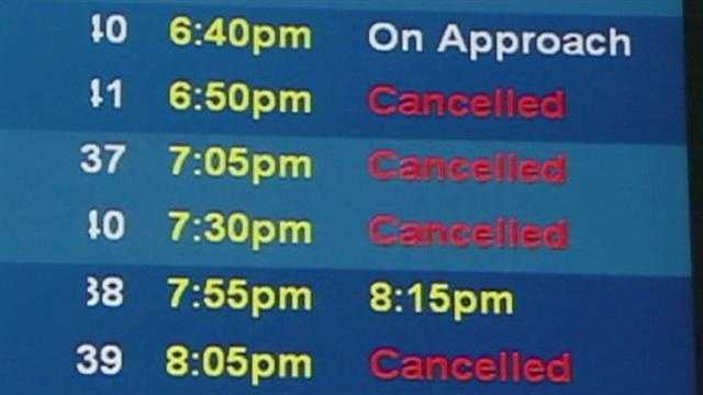 Weather cancellations at airport